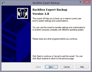 BackRex Expert Backup screenshot